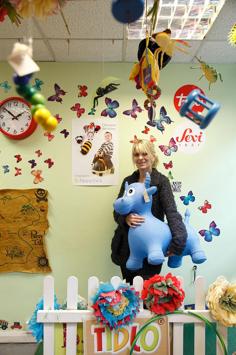 Toyshop owner, Emma Astles