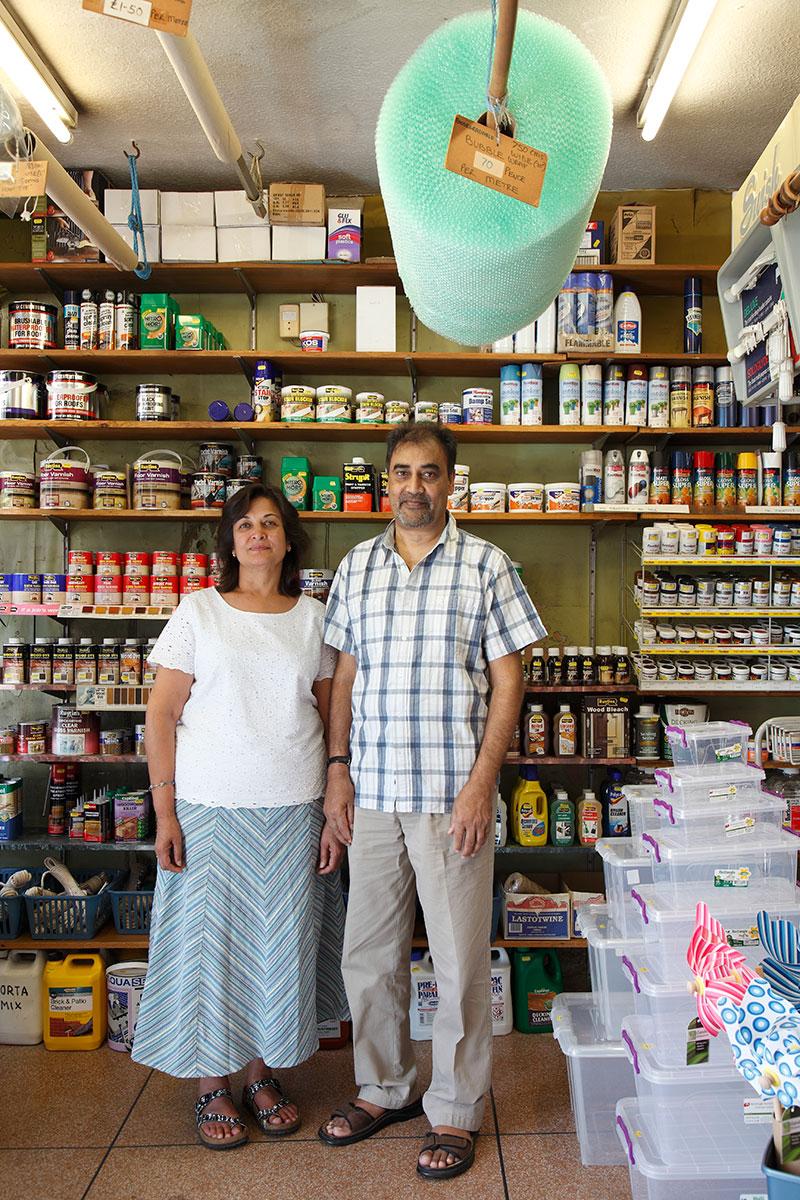 Hardware store owners, Raju & Daxita Patel