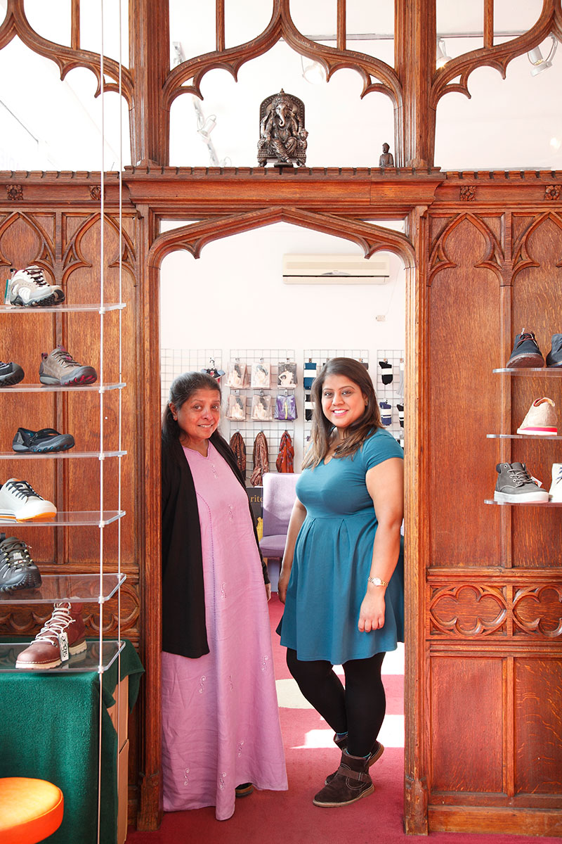 Shoe shop owners, Ila & Heena Patel