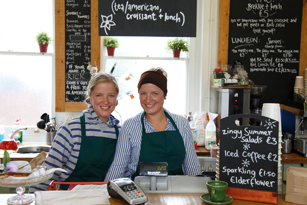 Sisters, Laura & Jess Tilli, cafe owners
