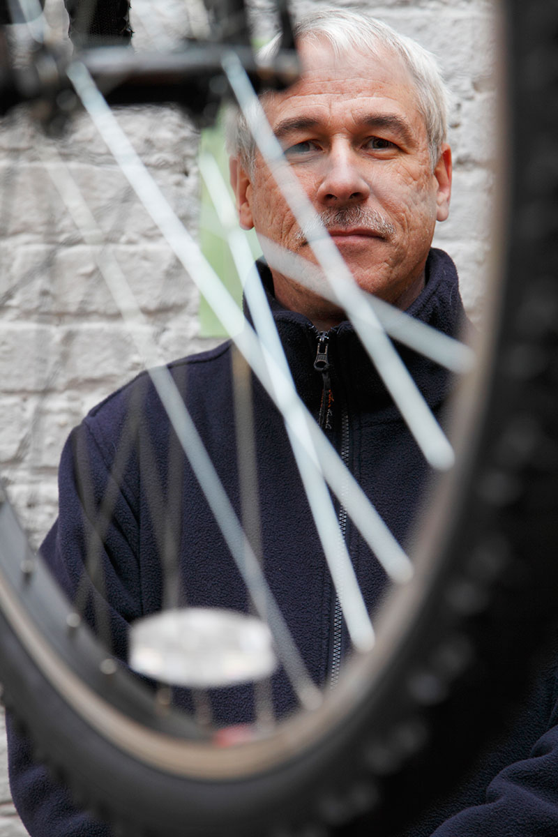 David Hibbs, bicycle shop owner