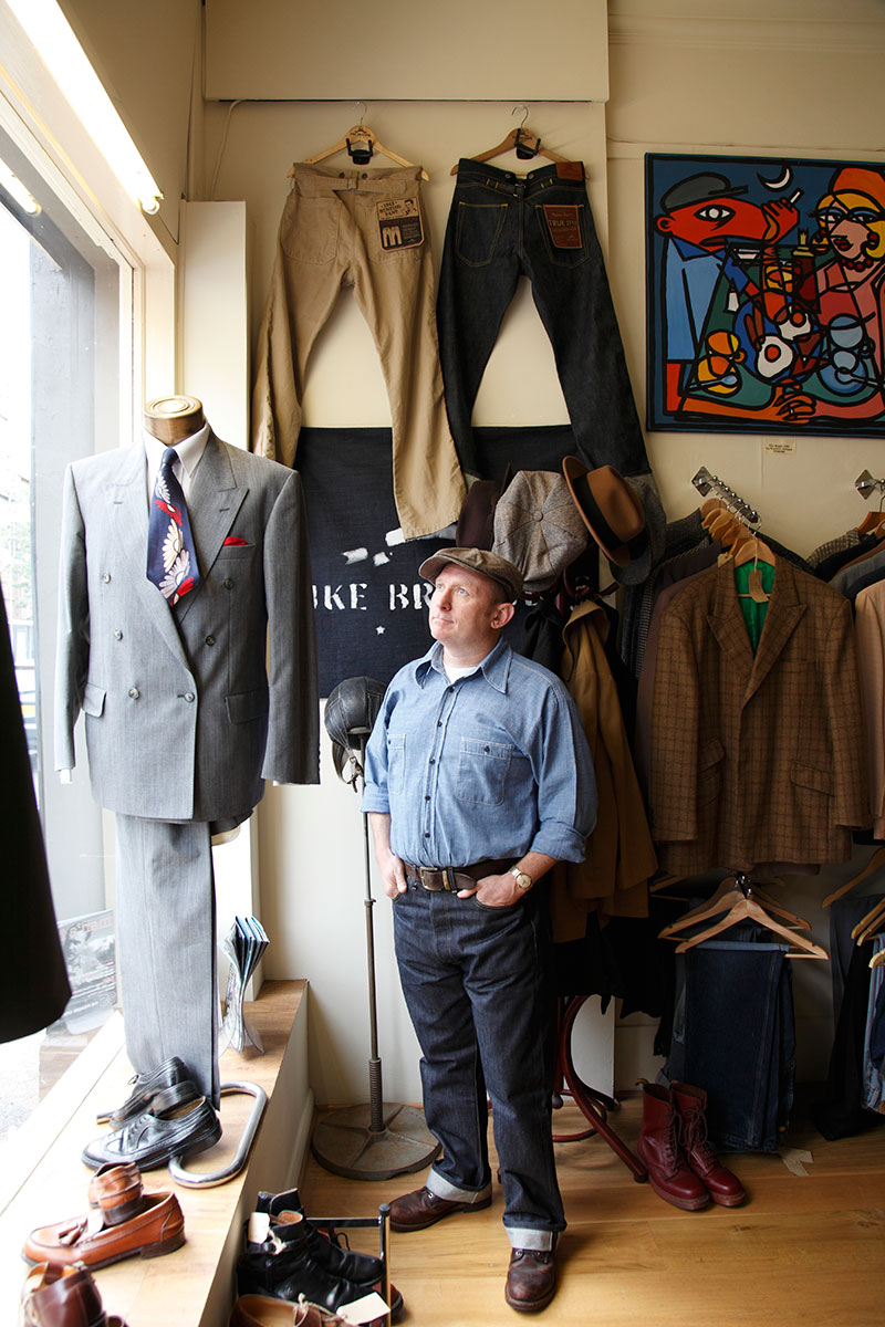 Vintage clothing shop owner, Paul Davies