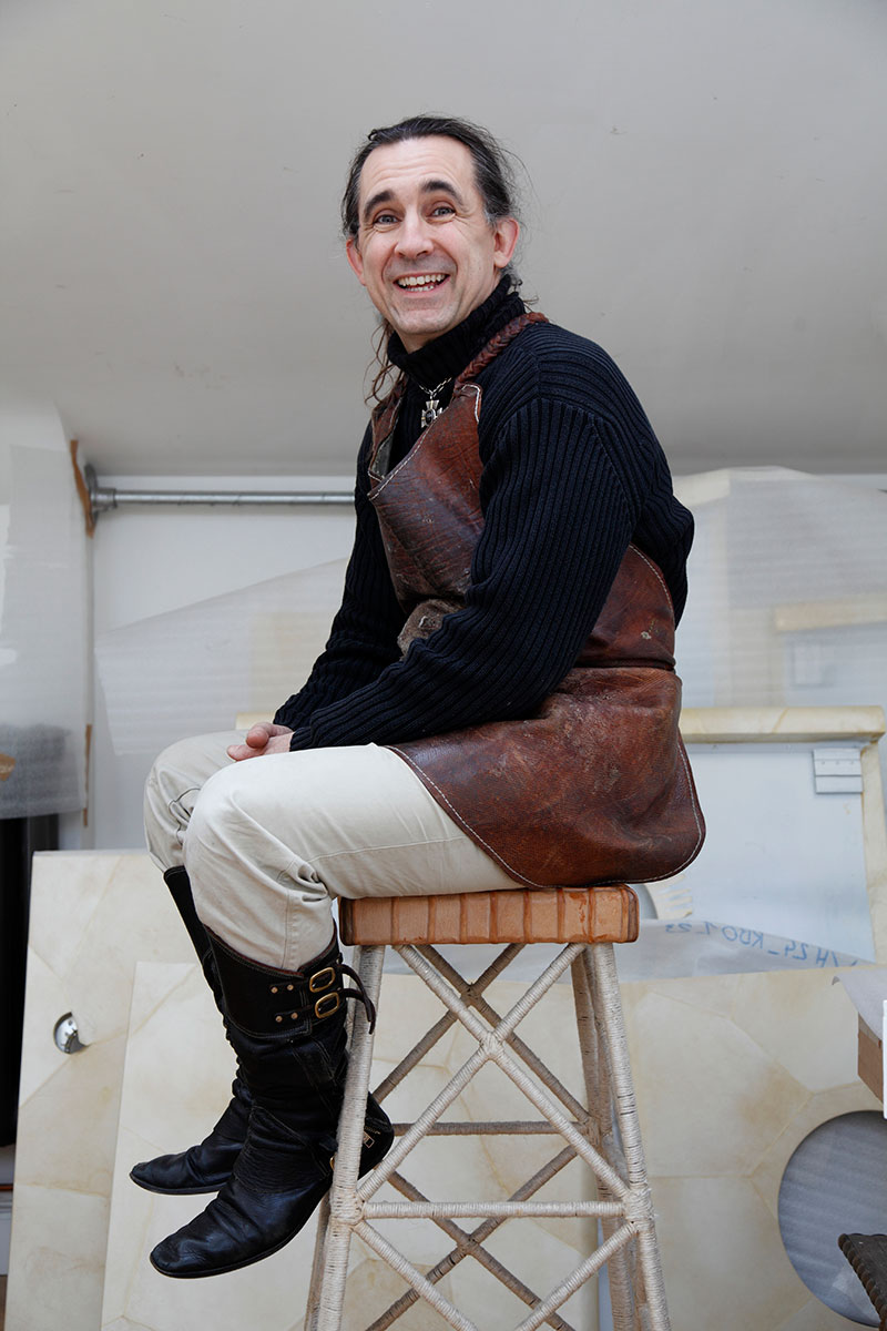 Gavin Rookledge, leather craftsman and bookbinder